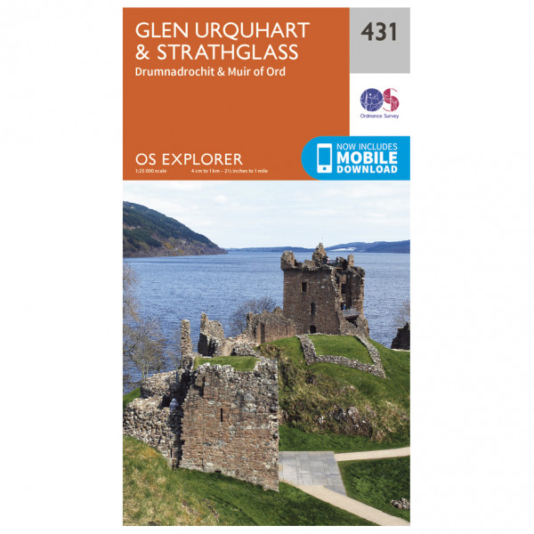 Ordnance Survey - Glen Urquhart / Strathglass - Turkart