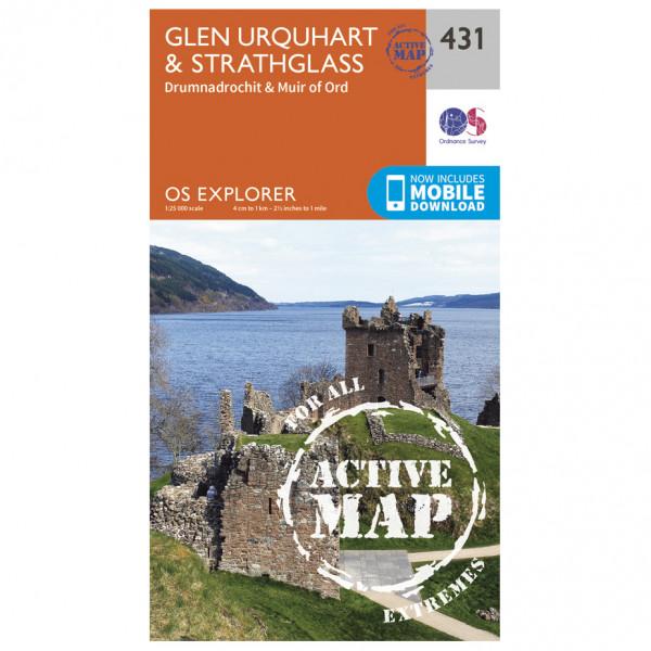 Ordnance Survey - Glen Urquhart / Strathglass Waterproof - Mapa de senderos