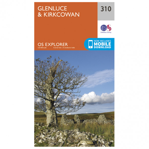 Ordnance Survey - Glenluce / Kirkcowan - Mapa de senderos