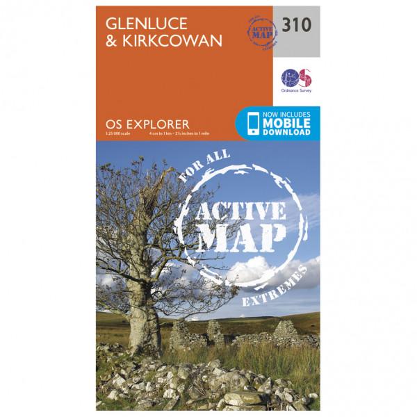 Ordnance Survey - Glenluce / Kirkcowan Waterproof - Hiking map