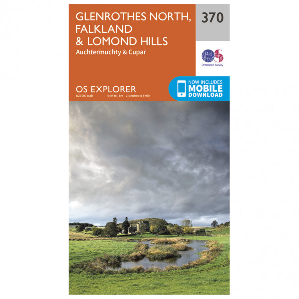Ordnance Survey - Glenrothes North / Falkland & Lomond Hills - Hiking map