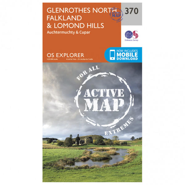Ordnance Survey - Glenrothes North / Falkland / Lomond Hills Waterproof - Hiking map