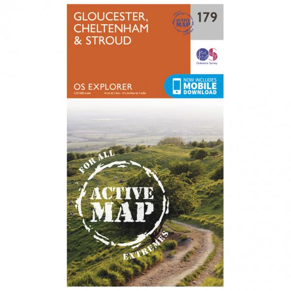 Ordnance Survey - Gloucester / Cheltenham / Stroud Waterproof - Wanderkarte
