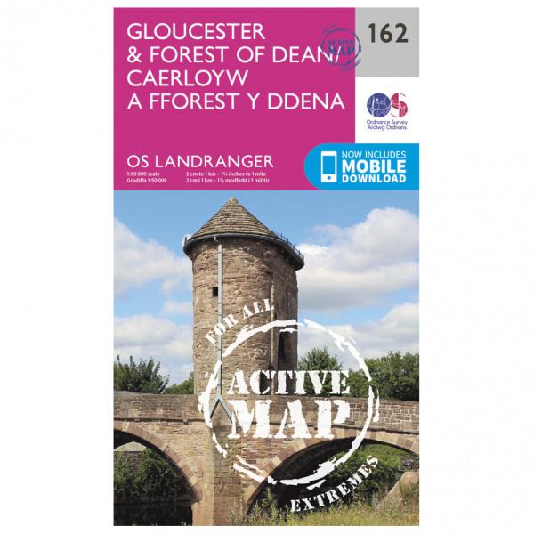 Ordnance Survey - Gloucester / Forest Of Dean Waterproof LA162 - Wanderkarte