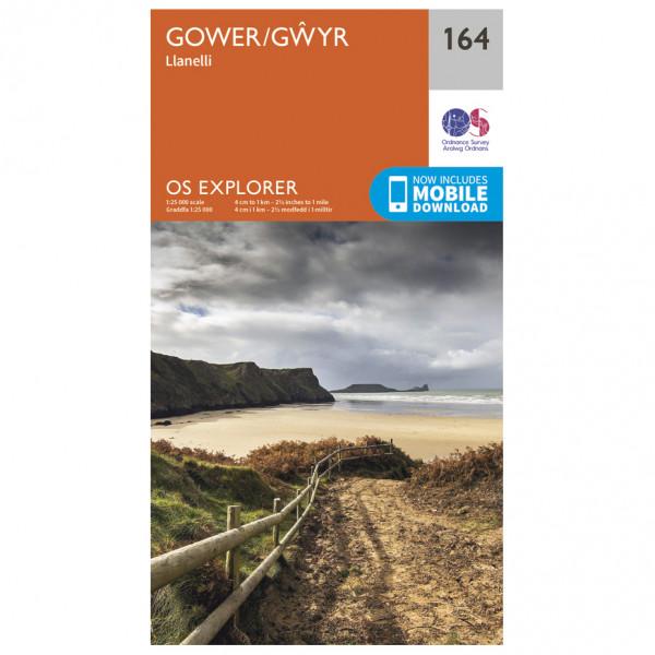 Ordnance Survey - Gower / Gwyr - Vaelluskartat