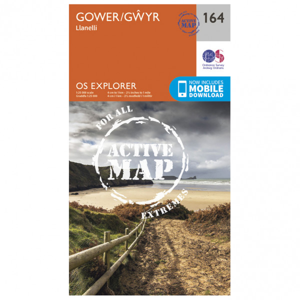 Ordnance Survey - Gower / Gwyr Waterproof - Vandrekort