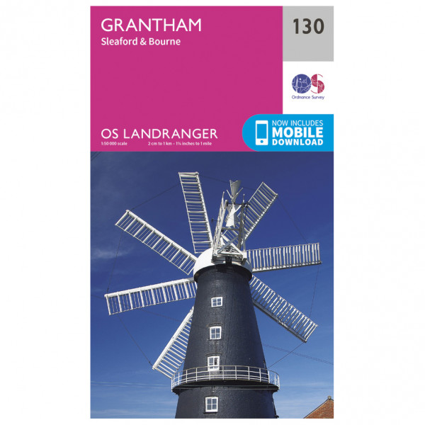 Ordnance Survey - Grantham - Vandrekort