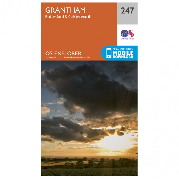 Ordnance Survey - Grantham Explorer - Vandringskartor