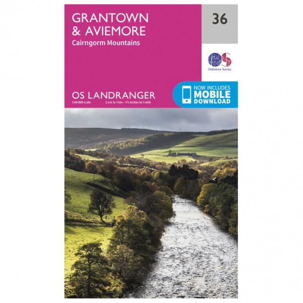 Ordnance Survey - Grantown / Aviemore - Vaelluskartat