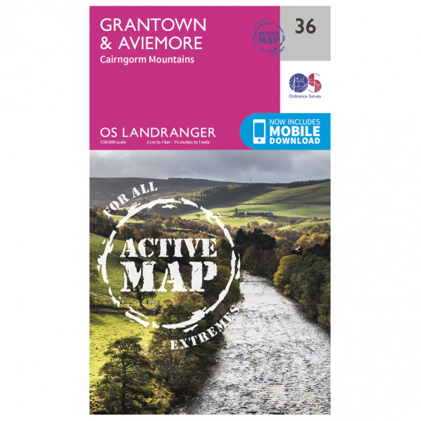 Ordnance Survey - Grantown / Aviemore Waterproof - Vandrekort