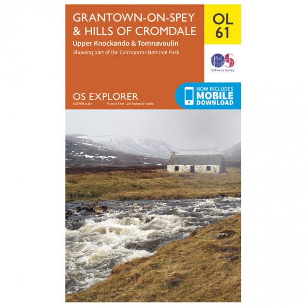 Ordnance Survey - Grantown-On-Spey / Hills Cromdale Outdoor - Wandelkaart