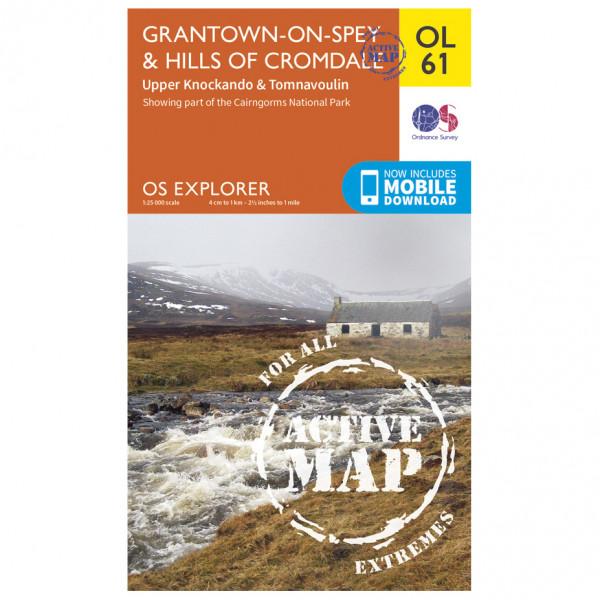 Ordnance Survey - Grantown-On-Spey / Hills Cromdale Waterproof - Vaelluskartat