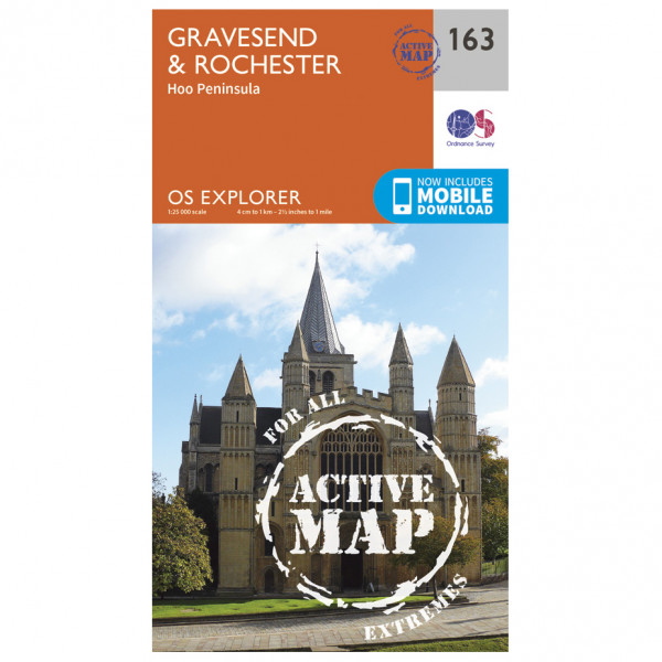 Ordnance Survey - Gravesend / Rochester Waterproof - Hiking map
