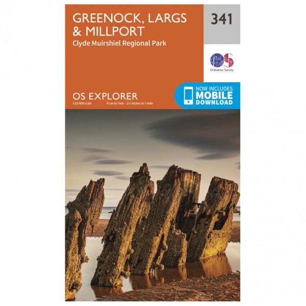 Ordnance Survey - Greenock / Largs / Millport EXP341 - Wanderkarte