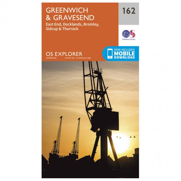 Ordnance Survey - Greenwich / Gravesend - Vandringskartor