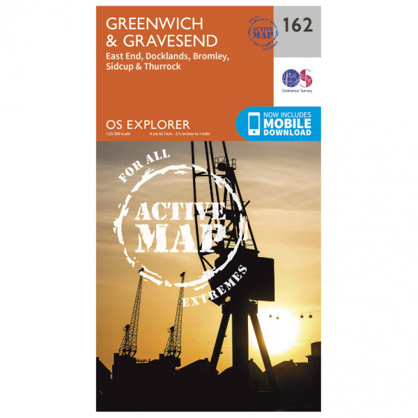Ordnance Survey - Greenwich And Gravesend Waterproof - Vaelluskartat