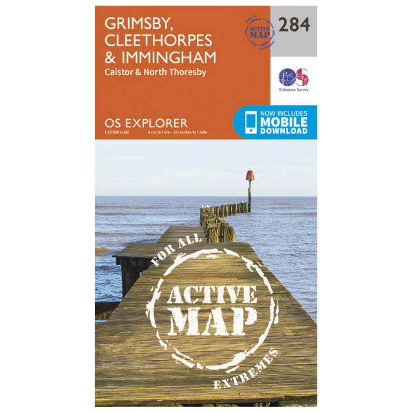 Ordnance Survey - Grimsby / Cleethorpes / Immingham Waterproof - Wandelkaarten