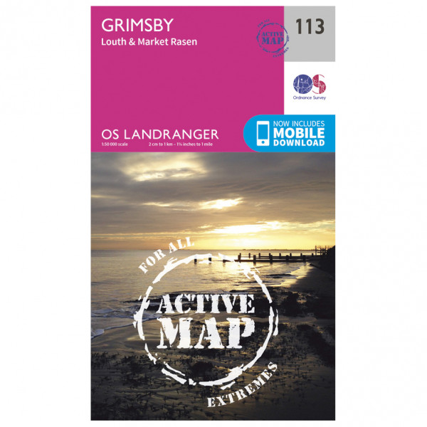 Ordnance Survey - Grimsby / Louth / Market Rasen Waterproof - Hiking map