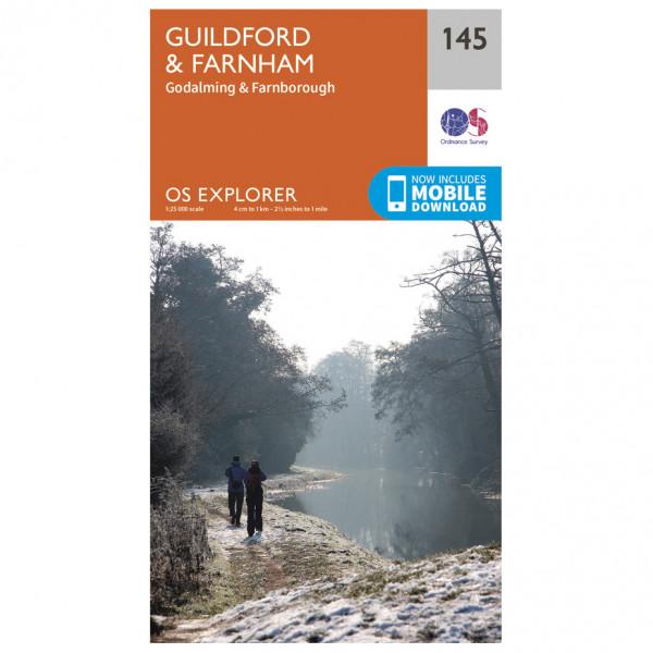 Ordnance Survey - Guildford / Farnham - Wandelkaart