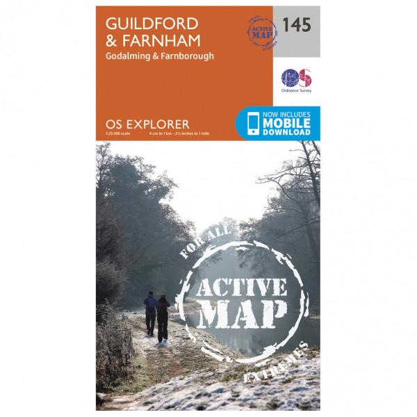 Ordnance Survey - Guildford / Farnham Waterproof - Vandrekort