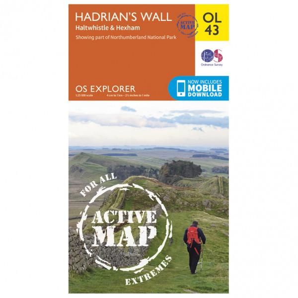 Ordnance Survey - Hadrian's Wall / Haltwhistle / Hexham Area Waterproof - Vandringskartor