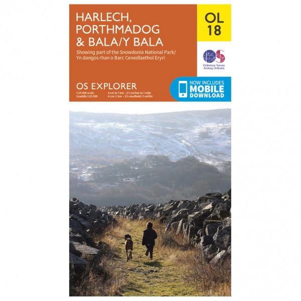 Ordnance Survey - Harlech / Porthmadog / Bala / Y Bala Outdoor - Vaelluskartat