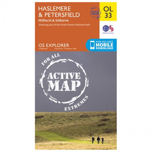 Ordnance Survey - Haslemere / Petersfield / Midhurst Waterproof - Hiking map