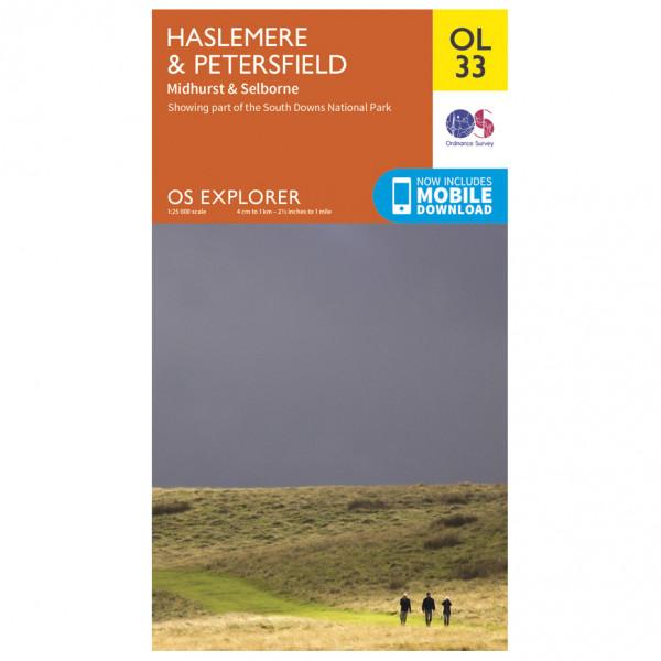 Ordnance Survey - Haslemere / Petersfield / Midhurt / Selborne Outdoor - Vaelluskartat