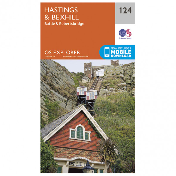 Ordnance Survey - Hastings / Bexhill - Vaelluskartat