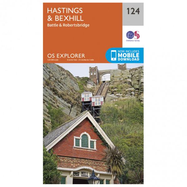 Ordnance Survey - Hastings / Bexhill - Vandringskartor