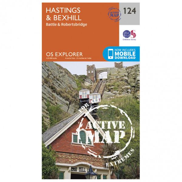 Ordnance Survey - Hastings / Bexhill Waterproof - Hiking map