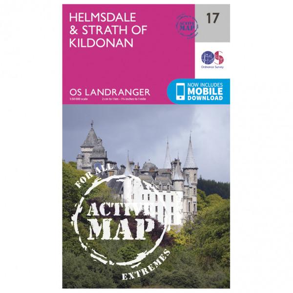 Ordnance Survey - Helmsdale / Strath Of Kildonan Waterproof - Hiking map