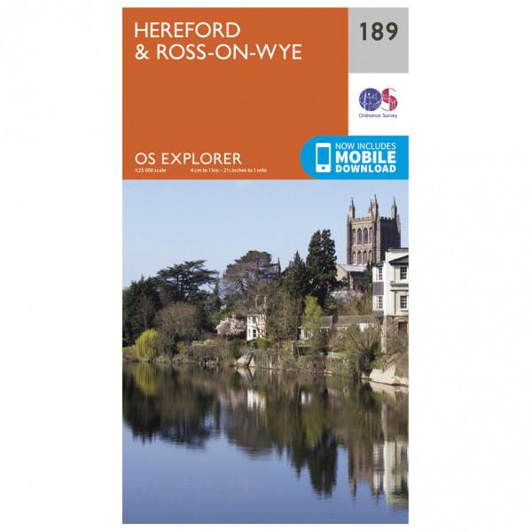 Ordnance Survey - Hereford & Ross-On-Wye - Vandrekort