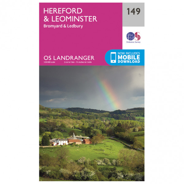 Ordnance Survey - Hereford / Leominster L149 - Wanderkarte