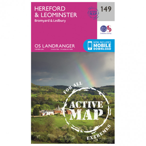 Ordnance Survey - Hereford / Leominster Waterproof - Vaelluskartat