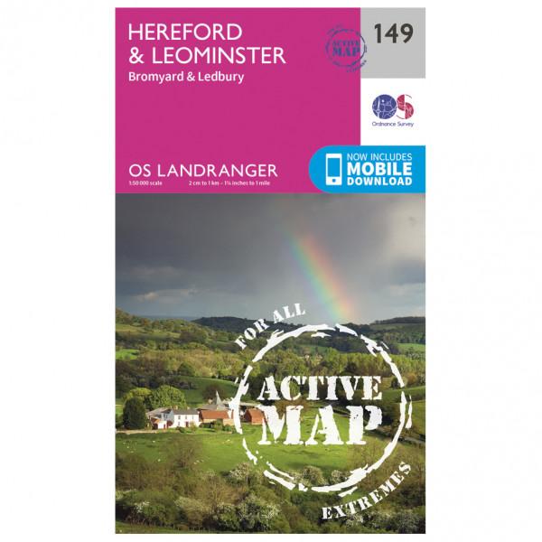 Ordnance Survey - Hereford / Leominster Waterproof - Wandelkaarten