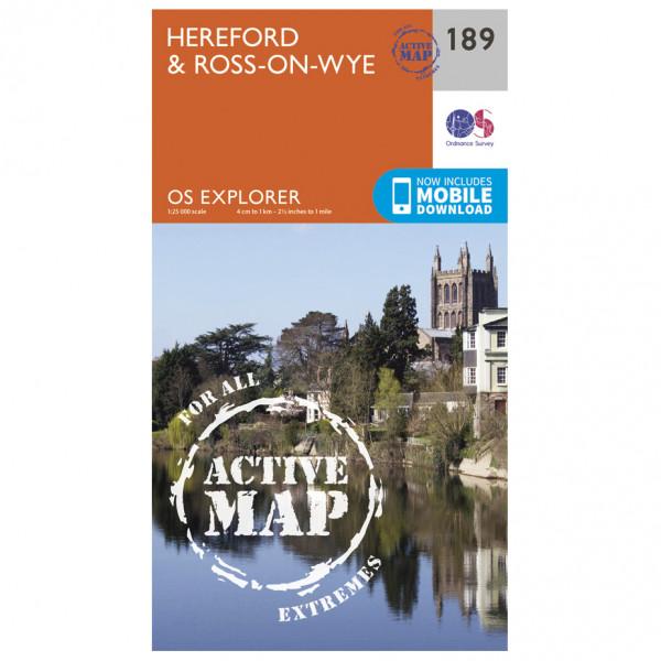 Ordnance Survey - Hereford / Ross-On-Wye Waterproof - Wanderkarte