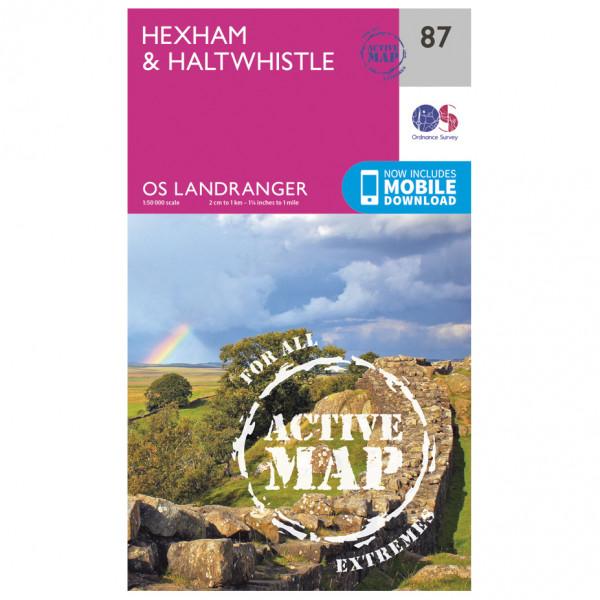 Ordnance Survey - Hexham / Haltwhistle Waterproof - Hiking map