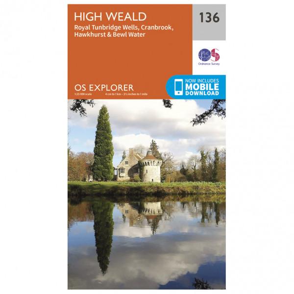 Ordnance Survey - High Weald / Royal Tunbridge Wells - Vandringskartor