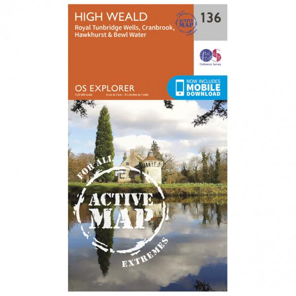 Ordnance Survey - High Weald Waterproof - Hiking map