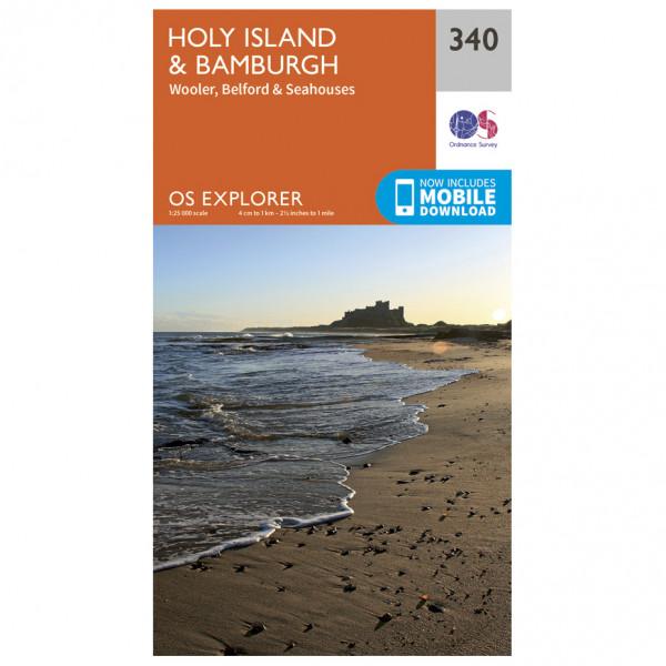 Ordnance Survey - Holy Island / Bamburgh - Wandelkaart