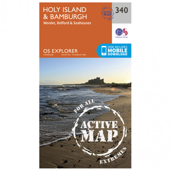 Ordnance Survey - Holy Island / Bamburgh Waterproof - Vandringskartor