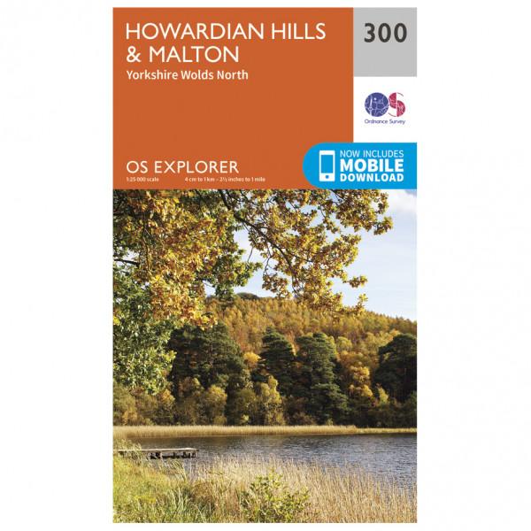 Ordnance Survey - Howardian Hills / Malton - Vandrekort