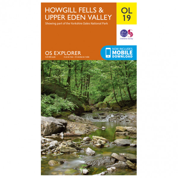Ordnance Survey - Howgill Fells / Upper Eden Valley Outdoor - Vandrekort