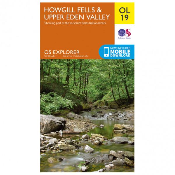 Ordnance Survey - Howgill Fells / Upper Eden Valley Outdoor - Wandelkaart
