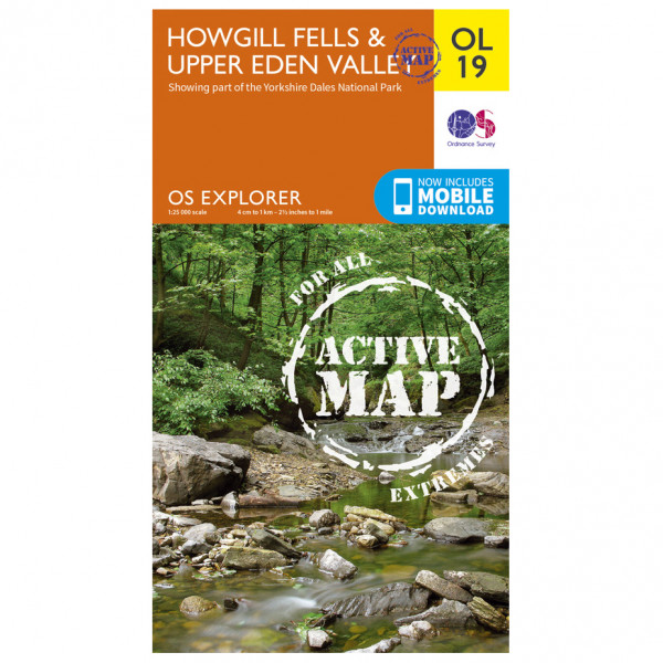 Ordnance Survey - Howgill Fells And Upper Eden Valley Waterproof - Hiking map