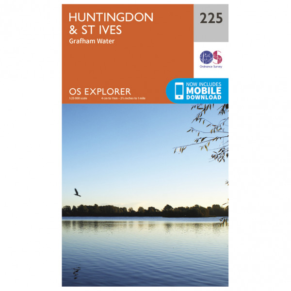 Ordnance Survey - Huntingdon / St Ives - Vandrekort