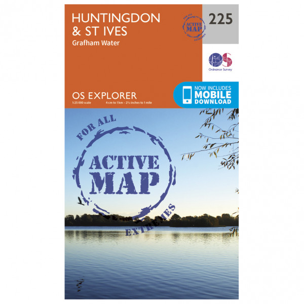 Ordnance Survey - Huntingdon / St Ives Waterproof - Hiking map