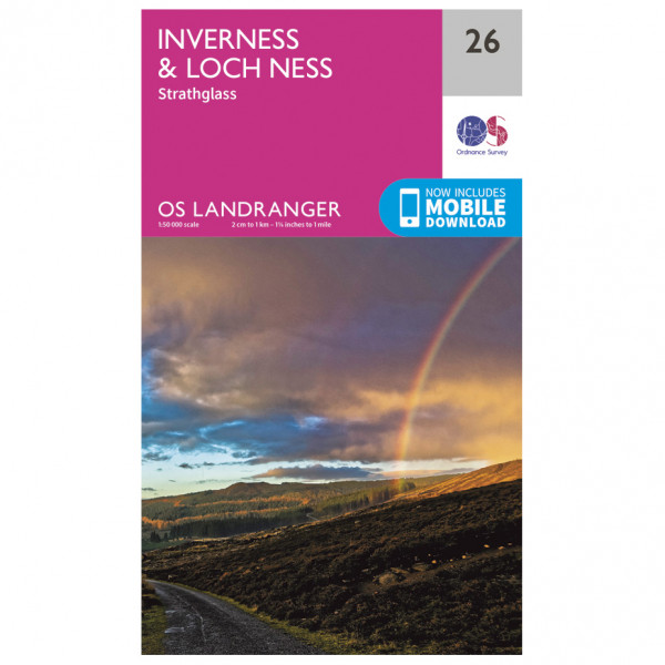 Ordnance Survey - Inverness / Loch Ness - Vandrekort
