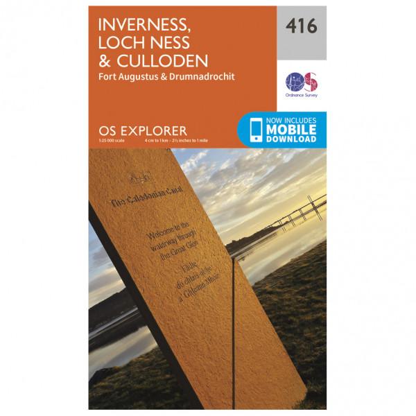 Ordnance Survey - Inverness / Loch Ness / Culloden - Vandrekort